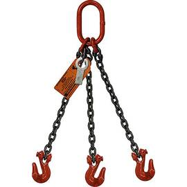 HSI® Three Leg Chain Slings | Oblong Link to Grab Hook Ends | Grade 100 Alloy Chain