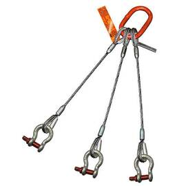 HSI® Three Leg Wire Rope Slings | Screw Pin Anchor Shackle Ends | EIPS IWRC