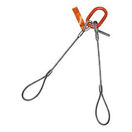 HSI® Two Leg Wire Rope Bridle Slings | Flemish Loop Ends | EIPS IWRC
