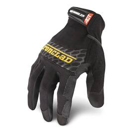 Ironclad® BHG-0 Box Handling® Mechanics Glove, Synthetic Leather Palm, Synthetic Leather/Airprene Fabric, Unlined, Black