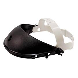 Jackson Safety* 14381 Model K General Purpose Headgear For Faceshield, Black/Clear, Plastic, Ratchet Adjustment
