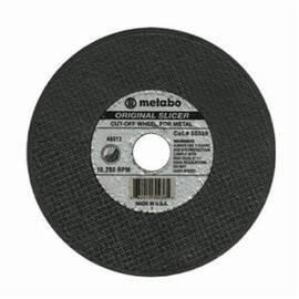 Metabo® Slicer 655317000 Type 1 Cut-Off Wheel, 3 In Dia X 0.04 In Thk, 3/8 In, 60 Grit, Aluminum Oxide Abrasive