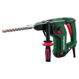 metabo® Combination Hammer, Bare Tool Tool/Kit, 4470 bpm, 3.1 J Impact, 0 to 1150 rpm No-Load Speed, 110/120 V, Aluminum Alloy Housing, metabo® VibraTech/Side, 91 dBA Pressure Level/102 dBA Power Level, 12-1/2 in L x 3-13/16 in W x 9-5/8 in H