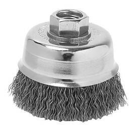 Metabo® 623804000 Wire Cup Brush, 2-3/4 In Dia, 5/8-11, 0.02 In Steel Knot/Twist Wire
