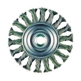 Metabo® 655136000 Wire Wheel Brush, 4 In Dia X 3/8 In W, 5/8-11, 0.02 In Knot Wire