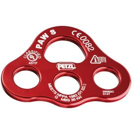 Petzl® P63 S PAW Rigging Plate for Organization and Multi-Anchor Systems, Red